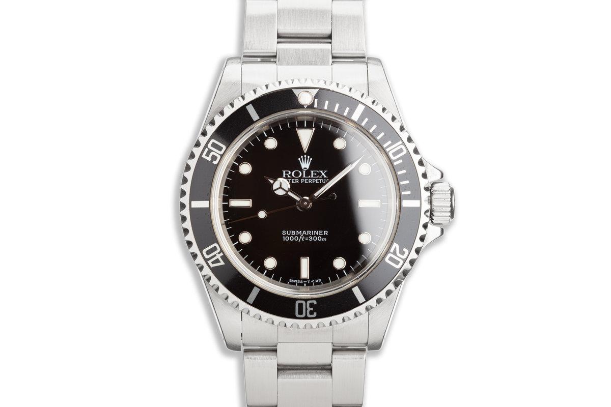 1997 Rolex Submariner 14060 Transitional Luminova Dial photo, #0