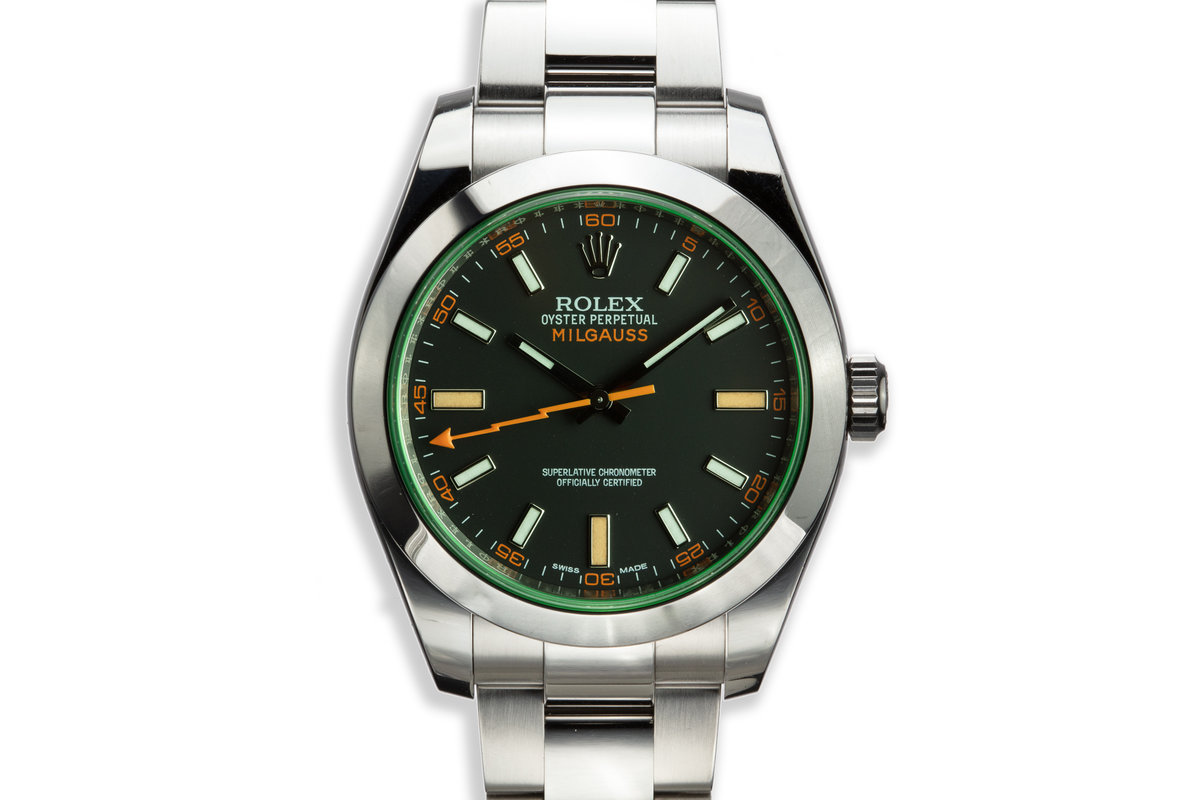 2014 Rolex Milgauss 116400GV Black Dial with Box and Card photo, #0