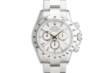2012 Unworn Rolex Daytona 116520 White APH Dial with Box and Card with Stickers photo