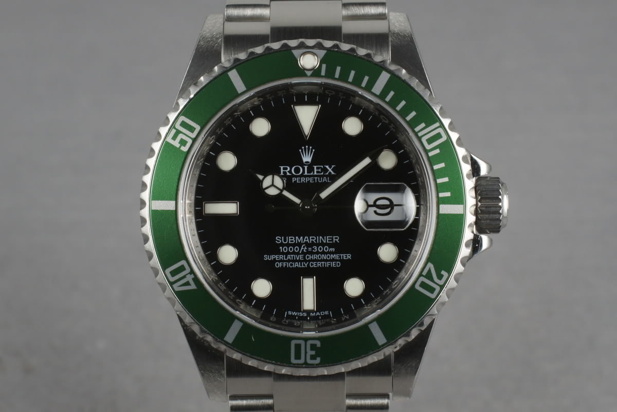 2007 Rolex Green Submariner 16610 LV photo, #0