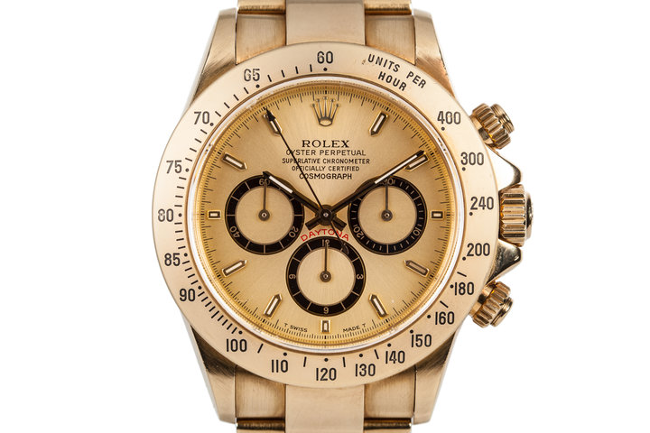 1991 Rolex 18K Gold Zenith Daytona 16528 photo