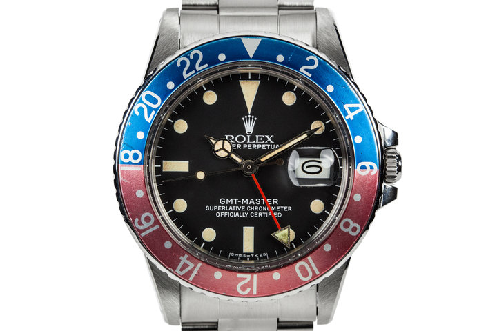 1981 Rolex GMT-Master 16750 Matte Dial with Box and Papers photo
