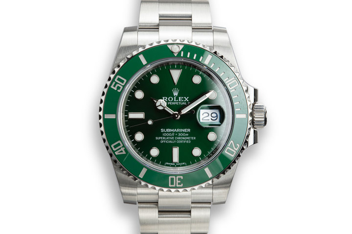 "2019 Rolex Green Submariner 116610LV ""Hulk"" with Box and Papers photo"