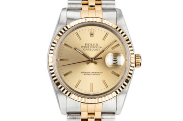 1988 Rolex Two-Tone DateJust 16233 with Box and Papers photo