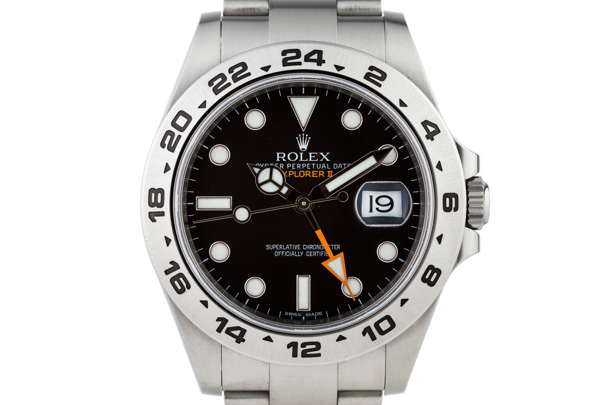 2012 Rolex Explorer II 216570 Black Dial with Box and Papers photo, #0