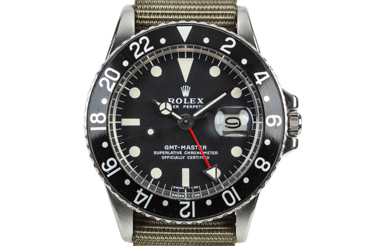 1972 Rolex GMT-Master 1675 With Black Bezel Insert photo