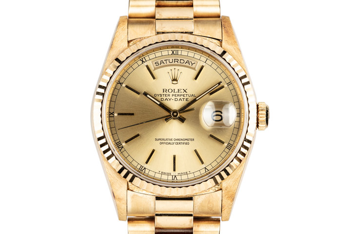 1995 Rolex 18K YG Day-Date 18238 photo