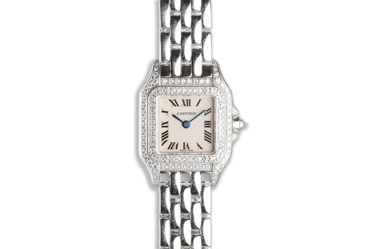 Panthère de Cartier Mini 18k WG Ladies Watch with Diamond Bezel & Case photo, #0