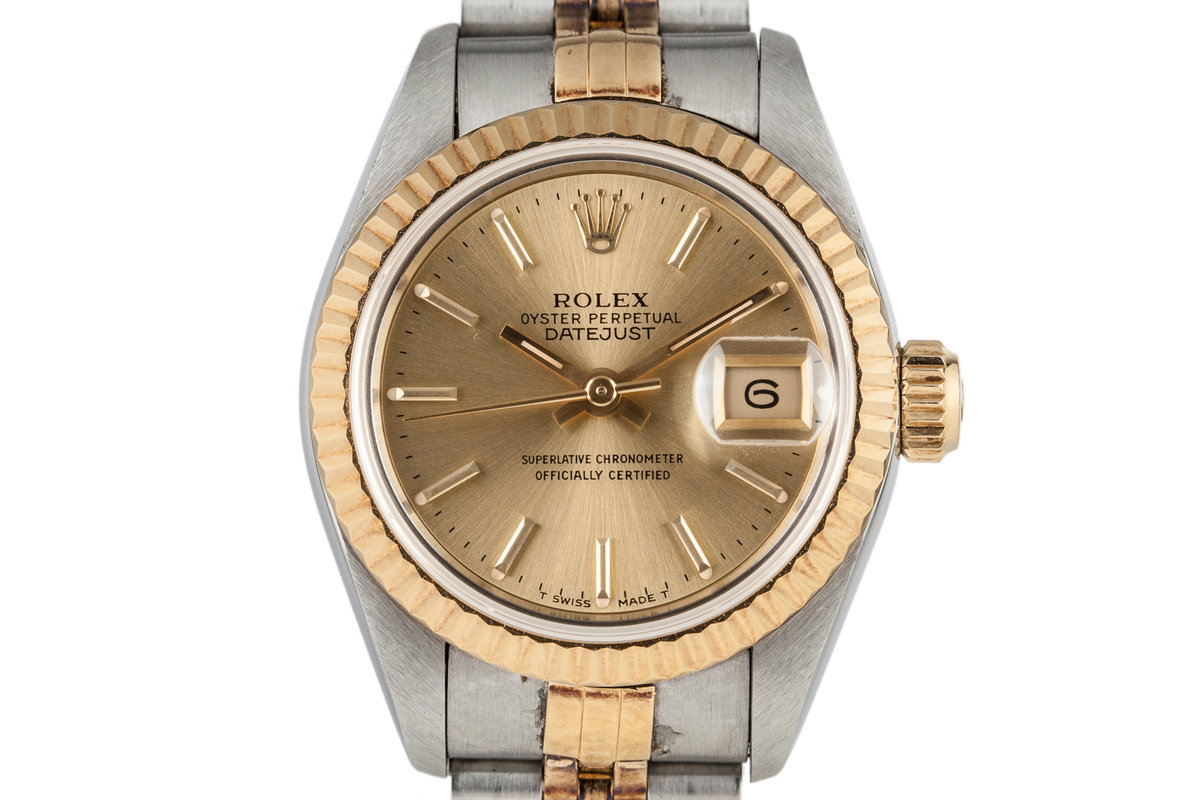 1995 Rolex Ladies Two Tone DateJust 69173 with Box and Papers photo, #0