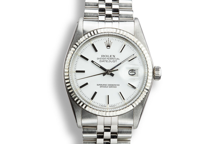 1970 Rolex DateJust 1601 with Matte White Dial photo