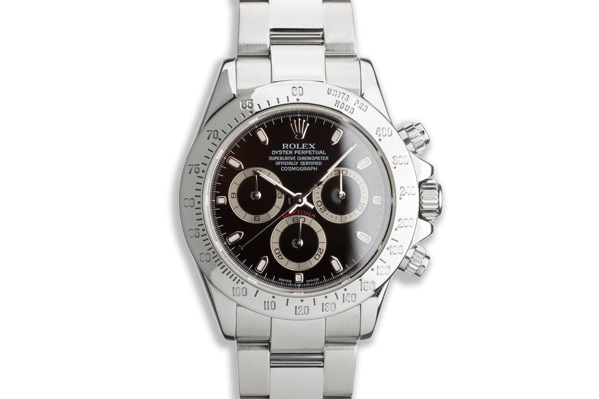 2004 Rolex Daytona 116520 Black Dial with Box and Papers photo, #0