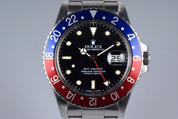 1987 Rolex GMT 16750 with Spider No-Date Dial photo