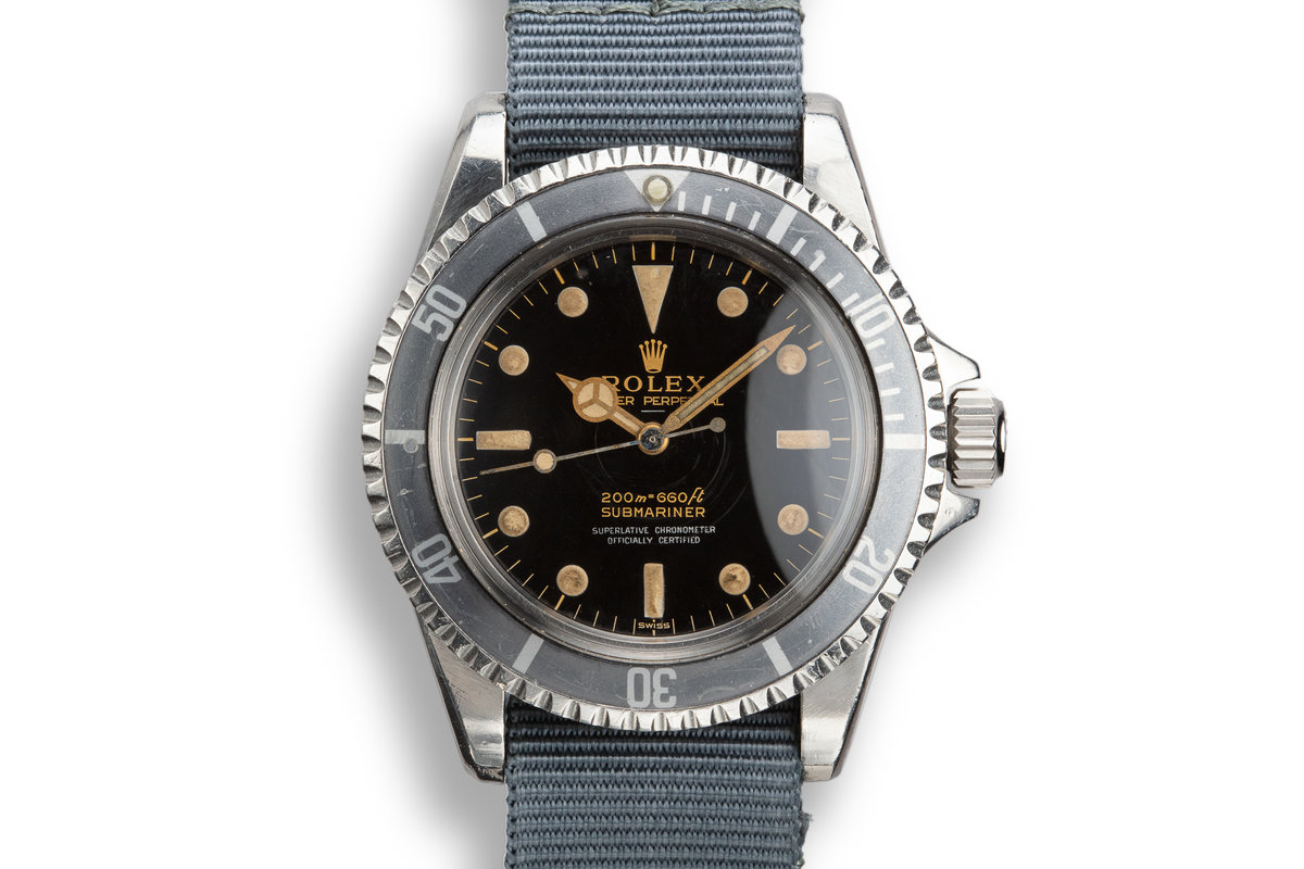 1963 Rolex Pointed Crown Guard Submariner 5512 with Gilt 4 Line Underline Dial photo, #0