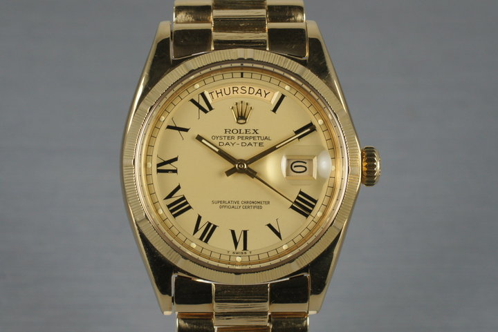 1968 Rolex Yellow Gold Bark Day-Date 1807 photo