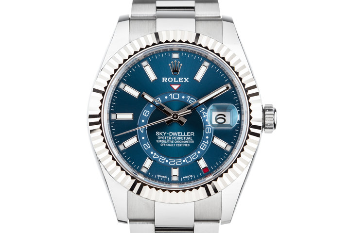 2017 Rolex Sky-Dweller 326934 Blue Dial with Box and Papers photo
