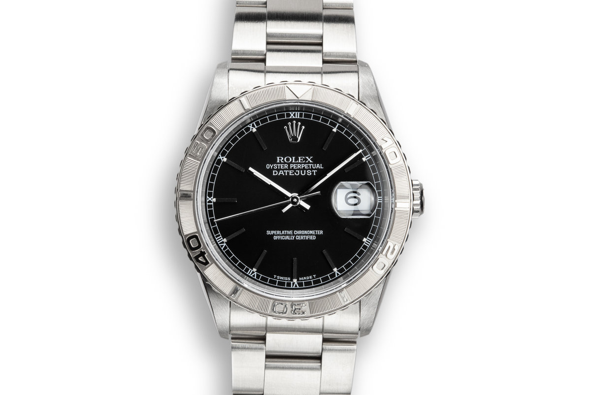 "1995 Rolex DateJust 16264 ""Thunderbird"" Black Dial photo, #0"