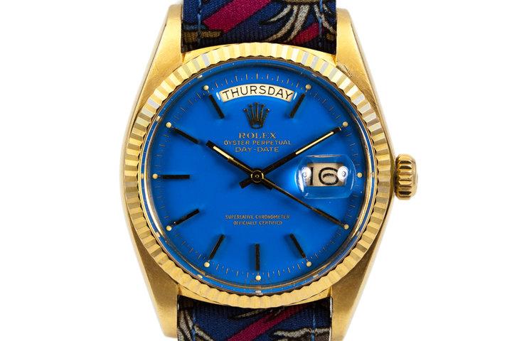 1972 Rolex YG Day-Date 1803 Blue Stella Dial photo