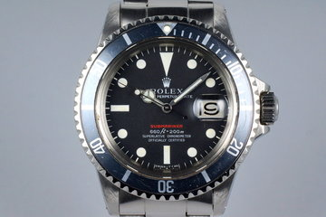 1970 Rolex Red Submariner 1680 Mark IV Dial photo
