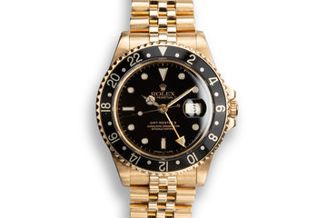 1990 Rolex 18K YG GMT-Master II 16718 photo