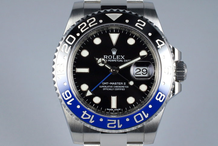 2014 Rolex GMT II 116710B with Box and Papers photo