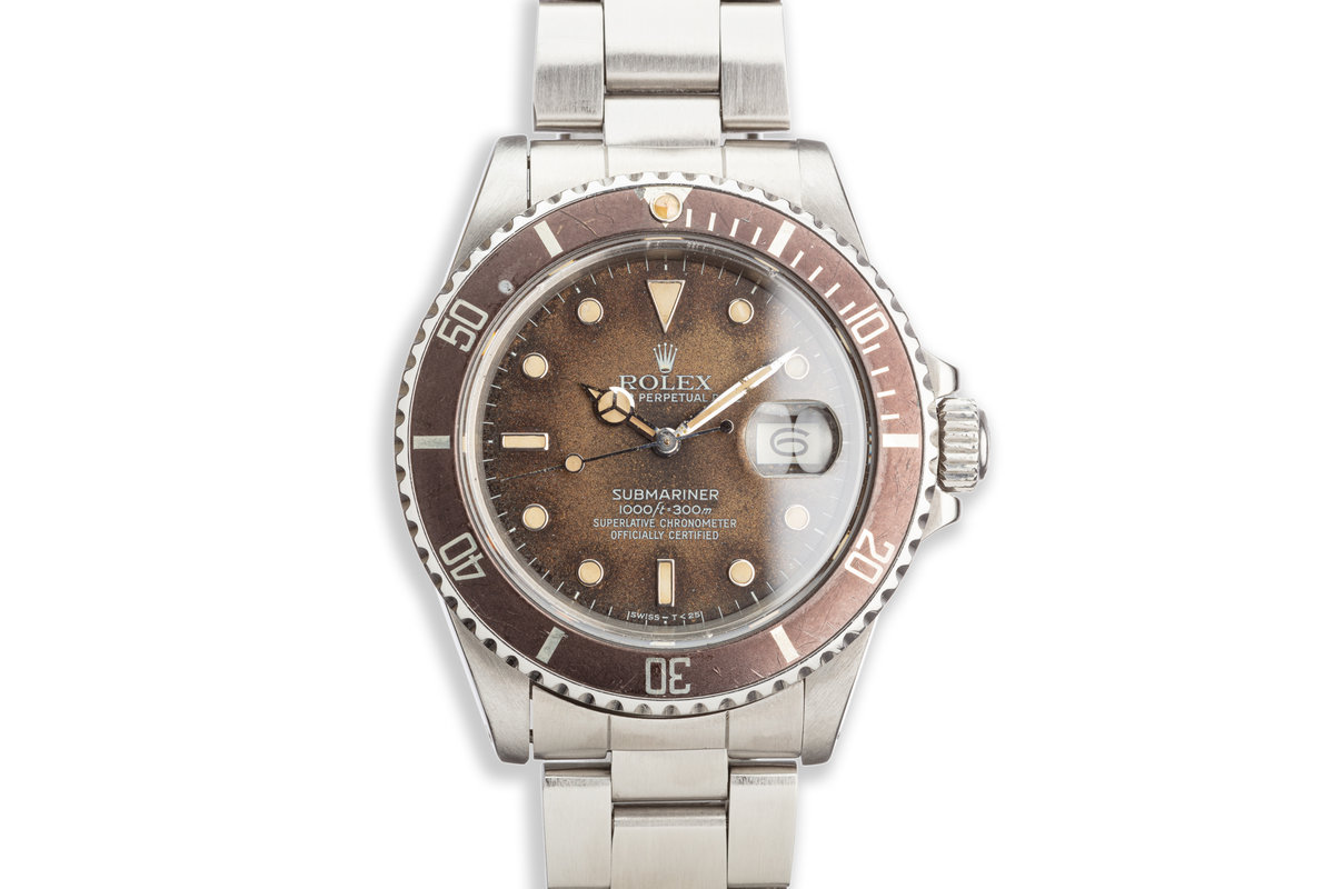 1986 Vintage Rolex Submariner 16800 Tropical Dial photo, #0