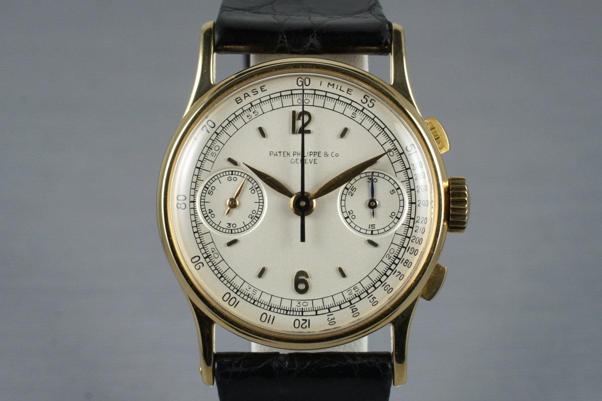 1950's 18K YG Patek Philippe 130 Chronograph photo, #0