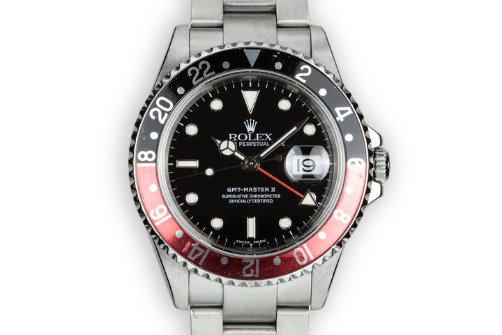 """2003 Rolex GMT-Master II 16710 """"Coke"""" with Box and Papers photo"""