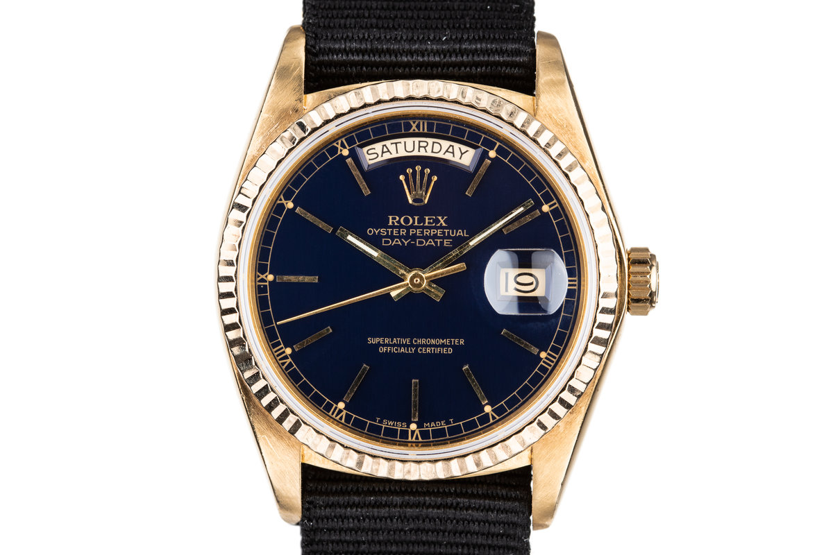 1980 Rolex Day-Date 18038 Blue Dial photo, #0