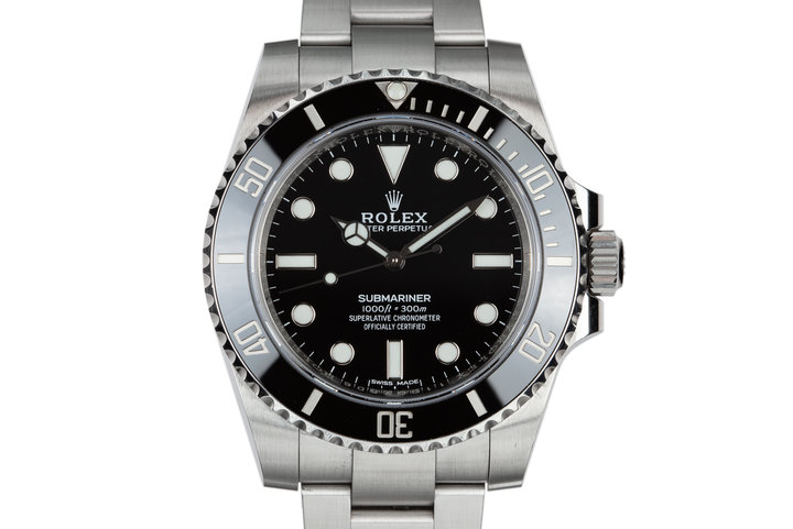 2018 Rolex Ceramic Submariner 114060 with Box and Papers photo