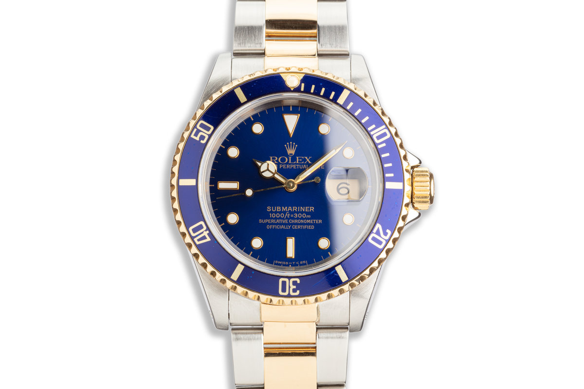 1994 Rolex Two-tone Submariner 16613 Blue Dial photo, #0