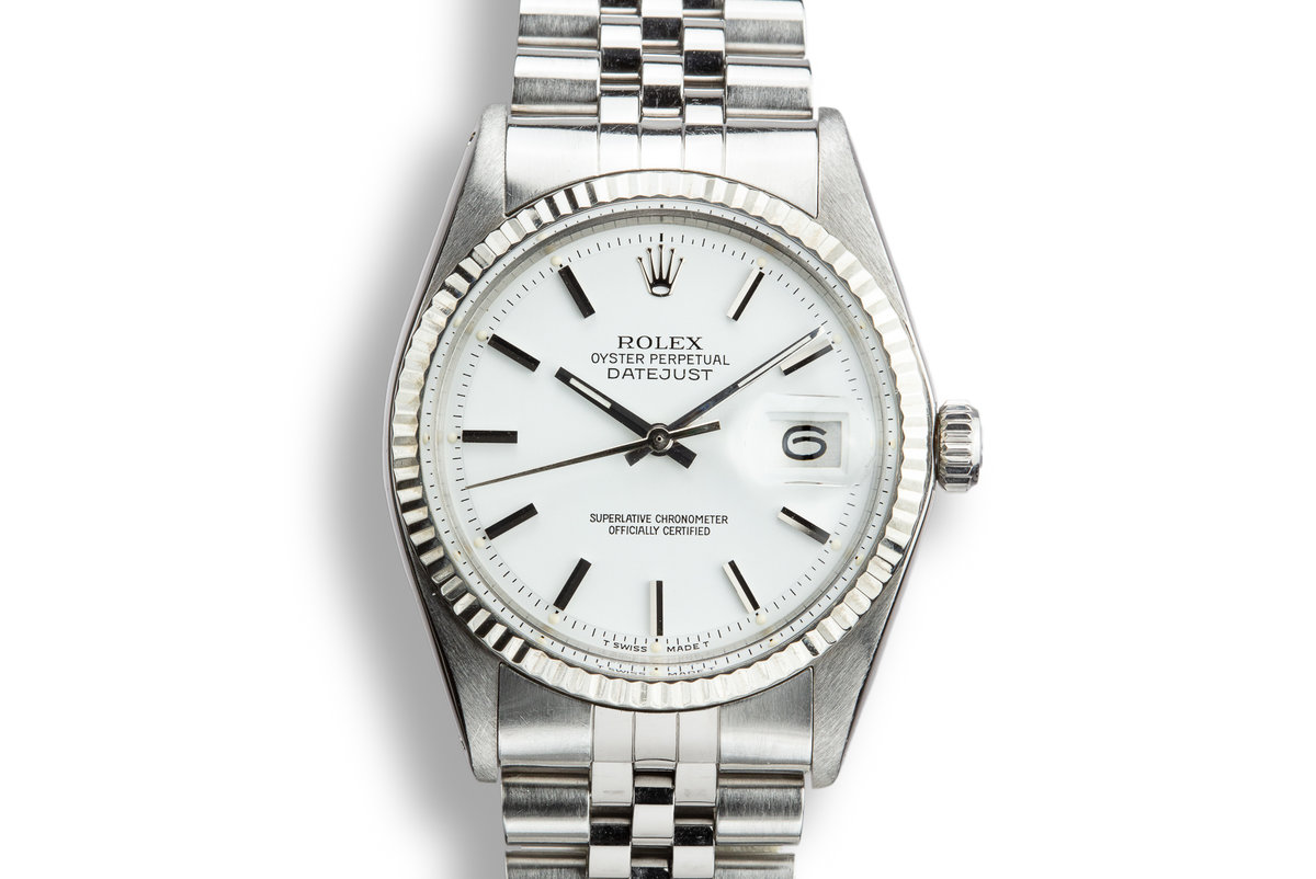 1970 Rolex DateJust 1601 with Matte White Dial photo, #0
