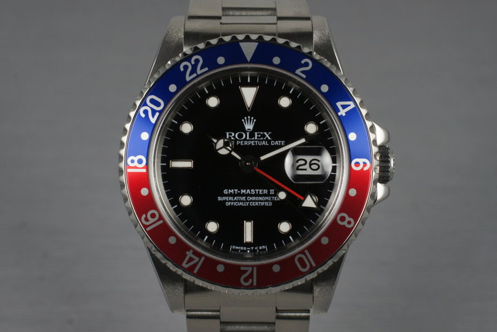 1990 Rolex 16710 GMT II with Box and RSC Papers photo