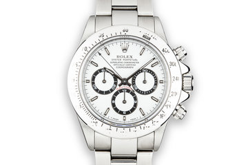 1991 Rolex Zenith Daytona 16520  with Rolex Service Papers photo