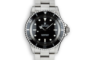 "1966 Rolex Submariner 5513 with ""SWISS"" Only Luminova Service Dial photo"