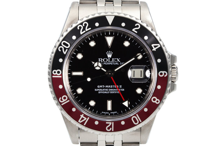 1985 Rolex Fat Lady GMT II 16760 Black Service Dial with Box and Papers photo