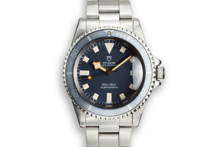 1979 Tudor Snowflake Submariner 94110 Blue Dial with Box and Papers photo