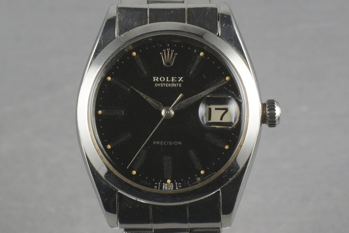 Rolex Steel Precision Oyster Date 6694 with gilt print photo, #0