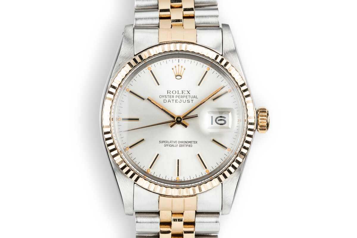 1981 Rolex Two-Tone DateJust 16013 Silver Dial photo, #0