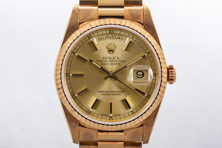 1995 Rolex YG Day Date 18238 Double Quick  photo