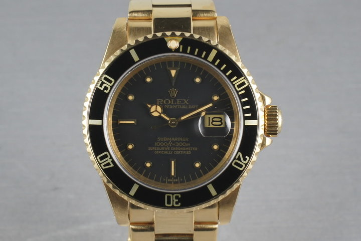 1980 Submariner 18K  16808 Black Nipple Dial with RSC Service Papers photo