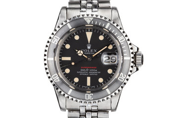 1972 Rolex Red Submariner 1680 MK IV Dial with Box and Papers photo