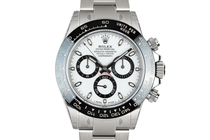 2018 Rolex Ceramic Daytona 116500LN White Dial with Box and Papers MINT photo