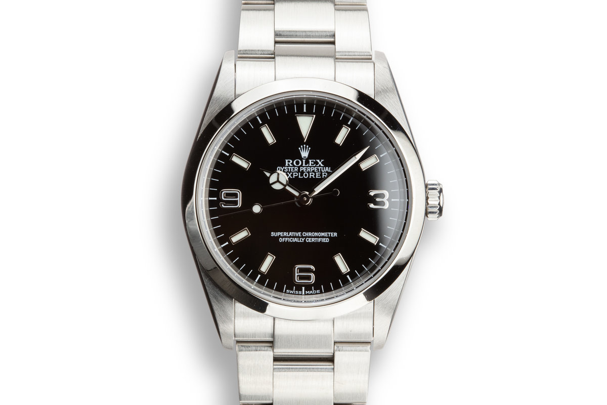 2002 Rolex Explorer 114270 with Box and Papers photo, #0