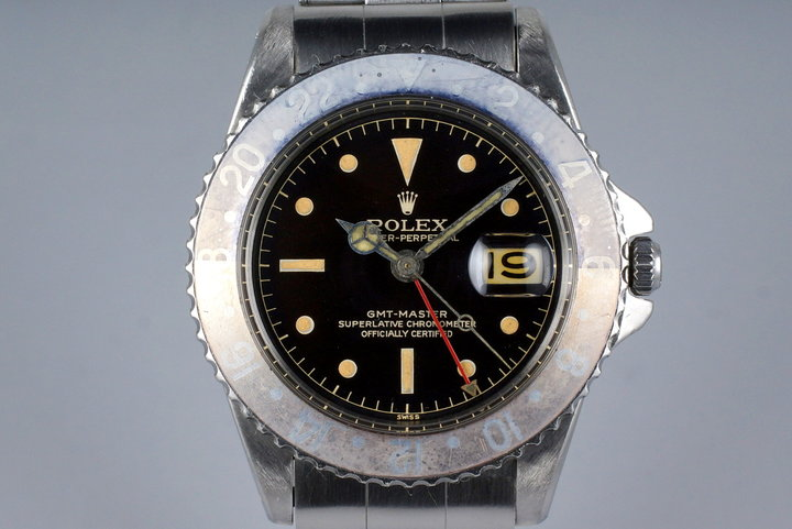 1961 Rolex GMT 1675 PCG Gilt Chapter Ring photo