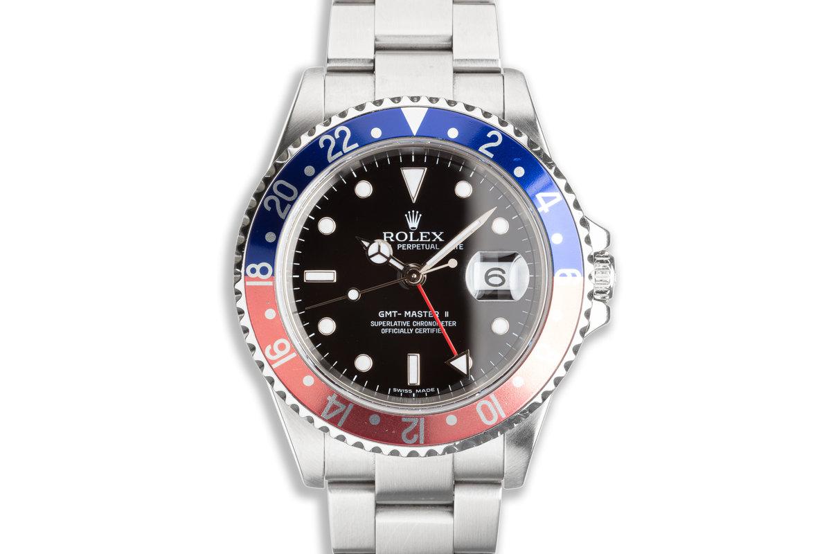 """2006 Rolex GMT-Master II 16710 T """"Pepsi"""" """"Error-Dial"""" photo, #0"""