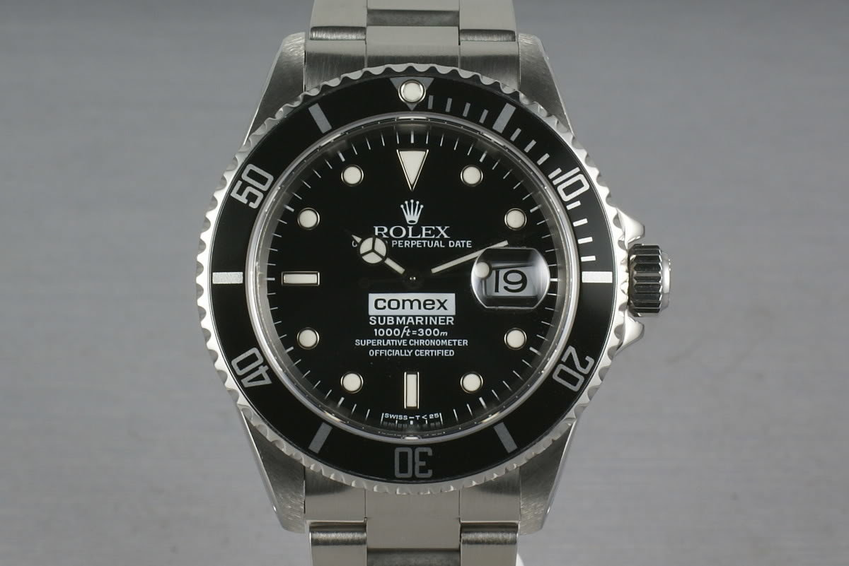 Rolex Submariner 16610 COMEX with RSC service papers photo, #0