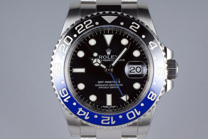2015 Rolex GMT II 116710BLNR with Box and Papers photo