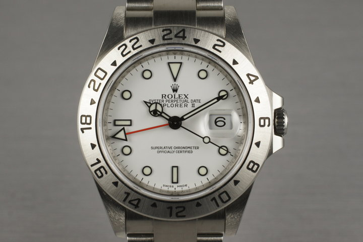 2007 Rolex Explorer II 16570T with 3186 Movement photo