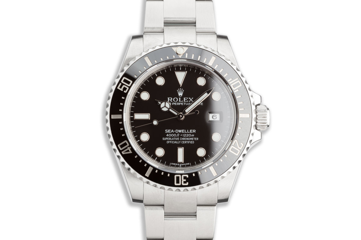 2015 Rolex Sea-Dweller 116600 with Box & Card & Service Papers photo, #0