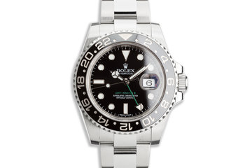 2016 Rolex GMT-Master II 116710LN Black Bezel with Box & Card photo